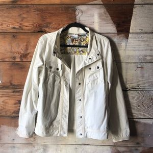 Columbia Size Large Cream Multi-Color Liner Jacket